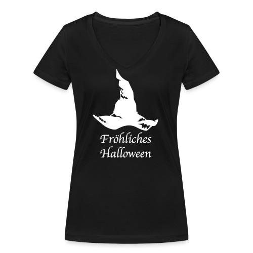 Fröhliches Halloween - Frauen Bio-T-Shirt mit V-Ausschnitt von Stanley & Stella