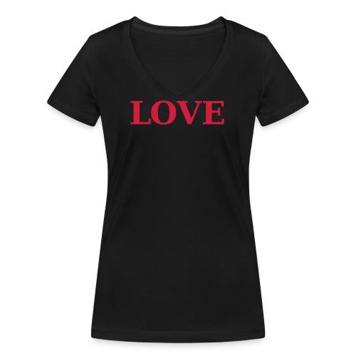 LOVE 2 - Frauen Bio-T-Shirt mit V-Ausschnitt von Stanley & Stella