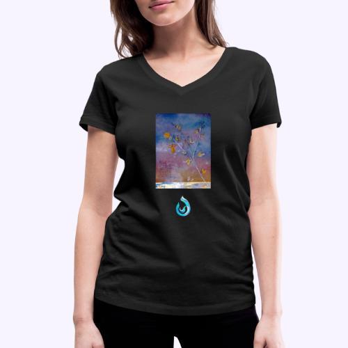Ginestra - T-shirt ecologica da donna con scollo a V di Stanley & Stella