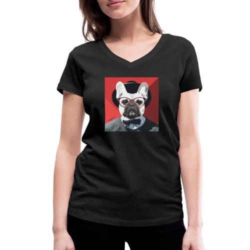 French Bulldog Artwork 2 - Frauen Bio-T-Shirt mit V-Ausschnitt von Stanley & Stella