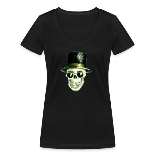 Schädel Hatter - Frauen Bio-T-Shirt mit V-Ausschnitt von Stanley & Stella