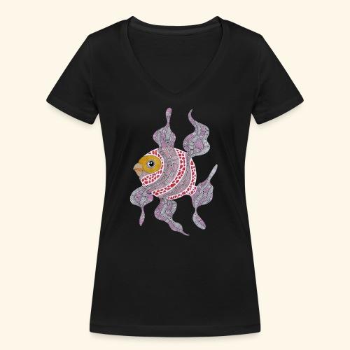 Clown fish - T-shirt ecologica da donna con scollo a V di Stanley & Stella