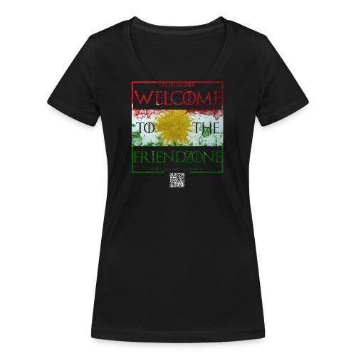 Friendzone K-F 1 - Frauen Bio-T-Shirt mit V-Ausschnitt von Stanley & Stella