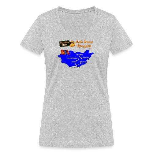 GobiDunes-01 - Stanley & Stellan naisten v-aukkoinen luomu-T-paita