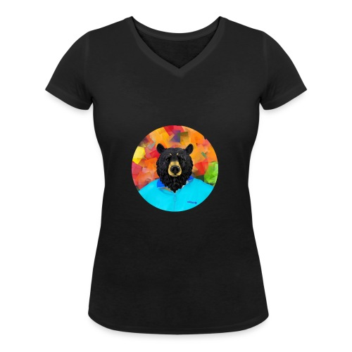 Bear Necessities - Women's Organic V-Neck T-Shirt by Stanley & Stella