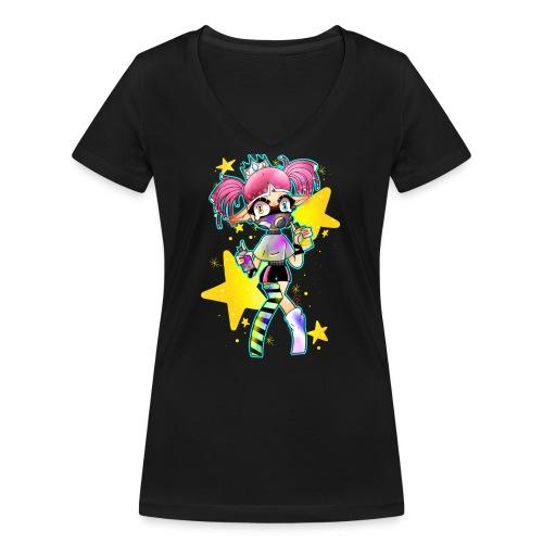 stellina2 - T-shirt ecologica da donna con scollo a V di Stanley & Stella