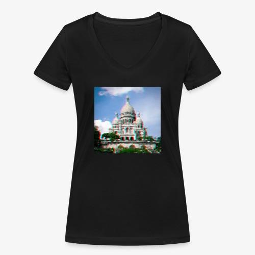 SacreCoeur Anaglyph - Frauen Bio-T-Shirt mit V-Ausschnitt von Stanley & Stella