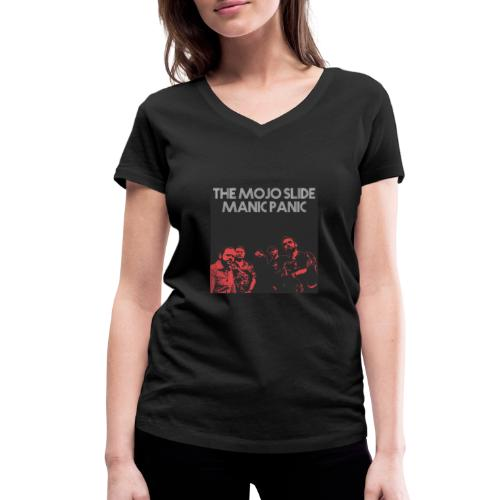 Manic Panic - Design 2 - Women's Organic V-Neck T-Shirt by Stanley & Stella