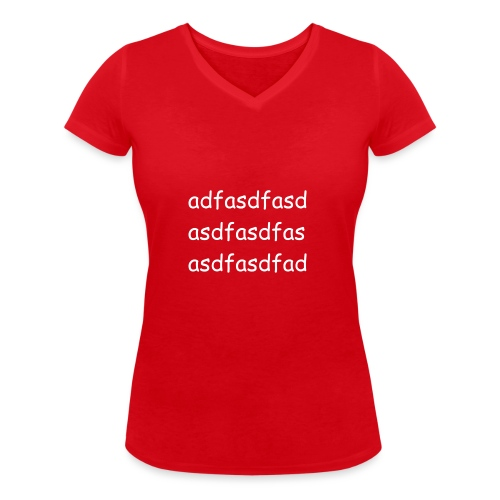 Cami asdf - Camiseta ecológica mujer con cuello de pico de Stanley & Stella