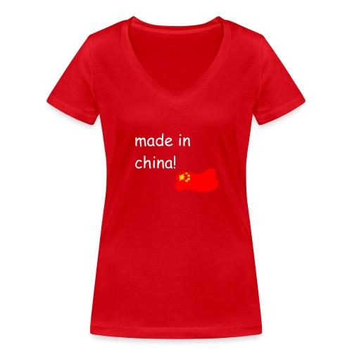 madeinchina - Camiseta ecológica mujer con cuello de pico de Stanley & Stella