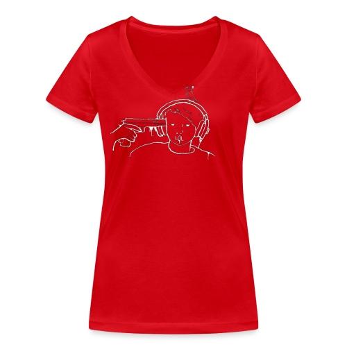 Kys - Stanley & Stellan naisten v-aukkoinen luomu-T-paita