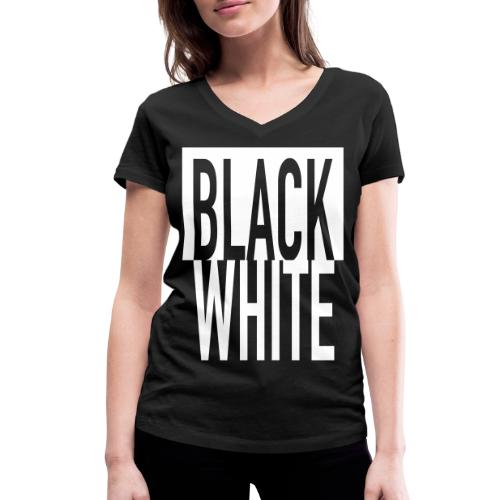 White Black - Frauen Bio-T-Shirt mit V-Ausschnitt von Stanley & Stella