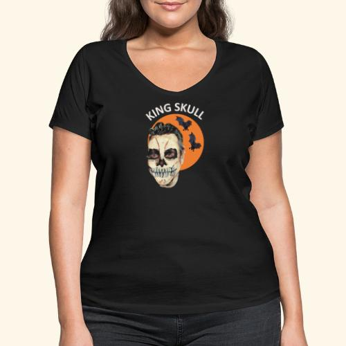 Totenkopf Nahtoderfahrung Mystik - Frauen Bio-T-Shirt mit V-Ausschnitt von Stanley & Stella