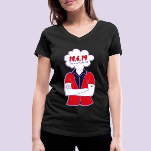 Frauenstreik - Frauen Bio-T-Shirt mit V-Ausschnitt von Stanley & Stella