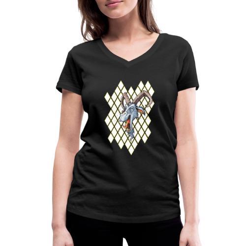 blauer bock - Frauen Bio-T-Shirt mit V-Ausschnitt von Stanley & Stella