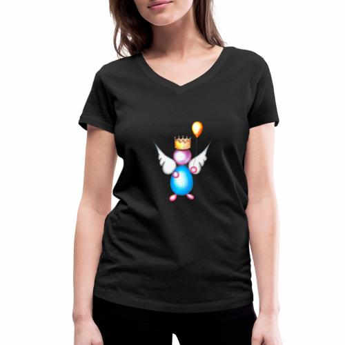 Mettalic Angel geluk - Vrouwen bio T-shirt met V-hals van Stanley & Stella