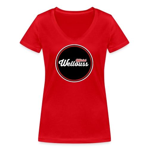 Wellouss Fan T-shirt | Rood - Vrouwen bio T-shirt met V-hals van Stanley & Stella