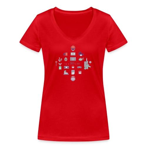 lo mejor de los 90 - Camiseta ecológica mujer con cuello de pico de Stanley & Stella