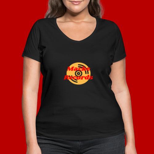 mackerecords merch - Ekologisk T-shirt med V-ringning dam från Stanley & Stella