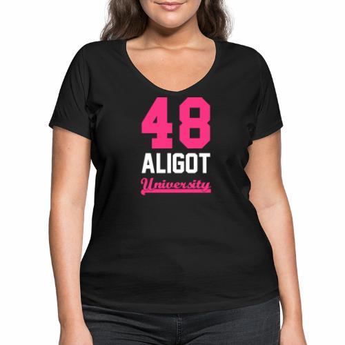 new aligot university hau - T-shirt bio col V Stanley & Stella Femme
