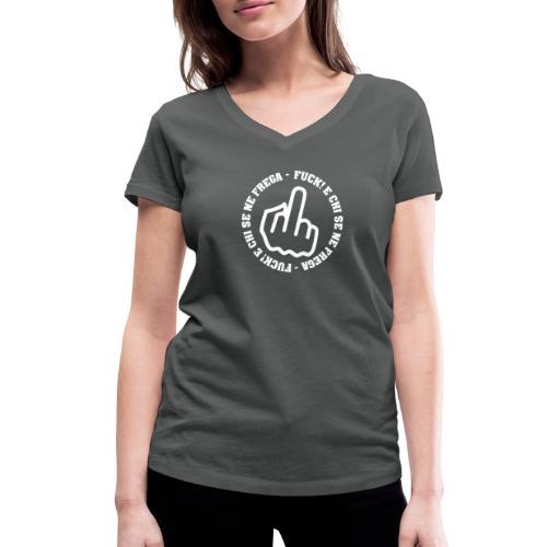 fuck storto official - T-shirt ecologica da donna con scollo a V di Stanley & Stella
