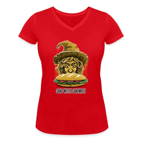 Sand Witch Sandwich V1 - Women's Organic V-Neck T-Shirt by Stanley & Stella