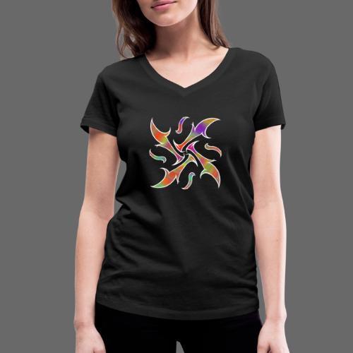 Hypnotisches Tribal - Frauen Bio-T-Shirt mit V-Ausschnitt von Stanley & Stella