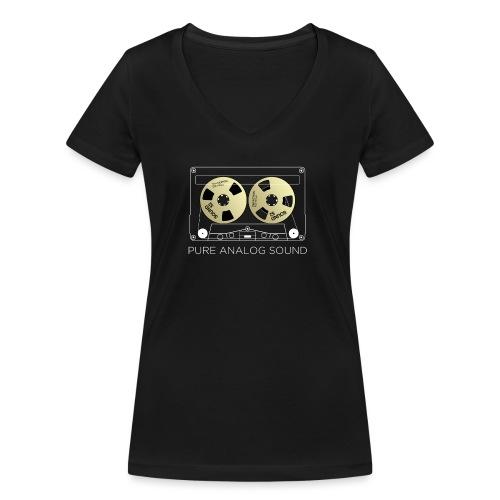 Reel golden cassette - Women's Organic V-Neck T-Shirt by Stanley & Stella