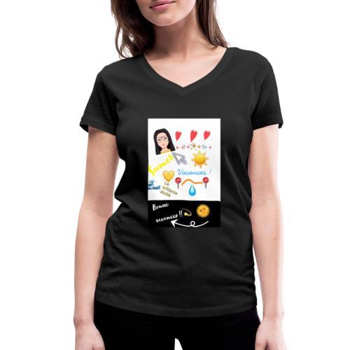 COLLECTION BONNE VACANCES!!🔆❣️ - T-shirt bio col V Stanley & Stella Femme