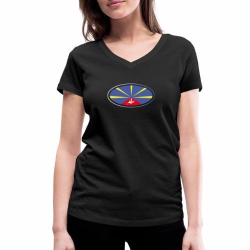 Paddle Reunion Flag - T-shirt bio col V Stanley & Stella Femme