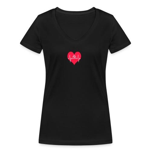 I love my Bike - Women's Organic V-Neck T-Shirt by Stanley & Stella
