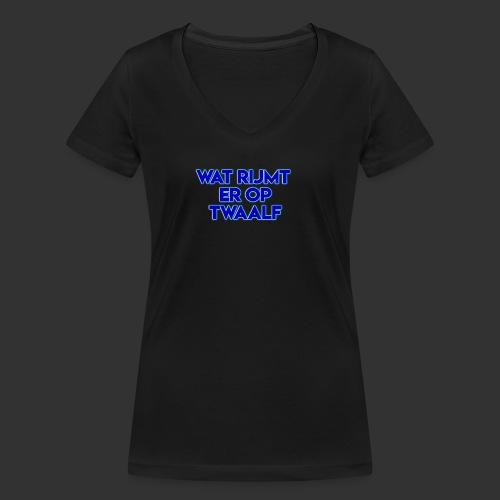 wat rijmt er op twaalf - Vrouwen bio T-shirt met V-hals van Stanley & Stella