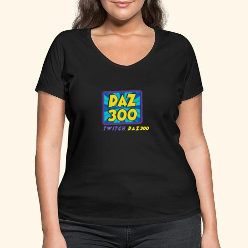 daz logo 2 0 - Women's Organic V-Neck T-Shirt by Stanley & Stella