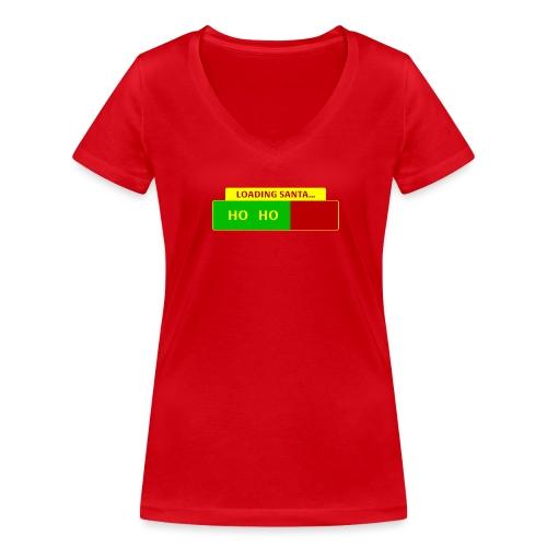 Loading Santa - Stanley & Stellan naisten v-aukkoinen luomu-T-paita