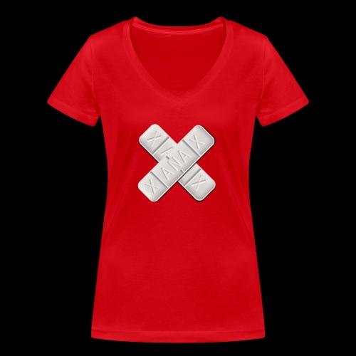 Xanax X Logo - Frauen Bio-T-Shirt mit V-Ausschnitt von Stanley & Stella