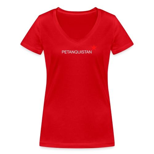 _red_star_2 - Frauen Bio-T-Shirt mit V-Ausschnitt von Stanley & Stella