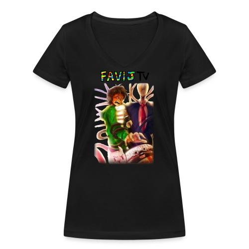 ShirtFinale png - T-shirt ecologica da donna con scollo a V di Stanley & Stella