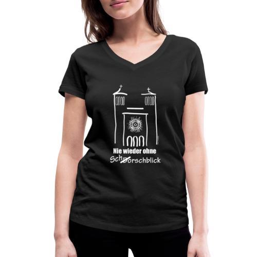 Schorschblick weiss - Frauen Bio-T-Shirt mit V-Ausschnitt von Stanley & Stella