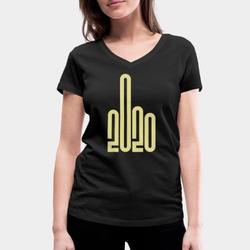 Covid Corona 2020 - T-shirt bio col V Stanley & Stella Femme