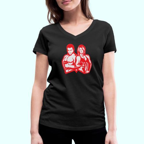 Man & woman NLB - Stanley & Stellan naisten v-aukkoinen luomu-T-paita