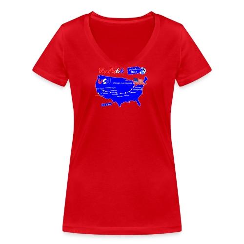 R66EXP_ForWhiteNew-01 - Stanley & Stellan naisten v-aukkoinen luomu-T-paita