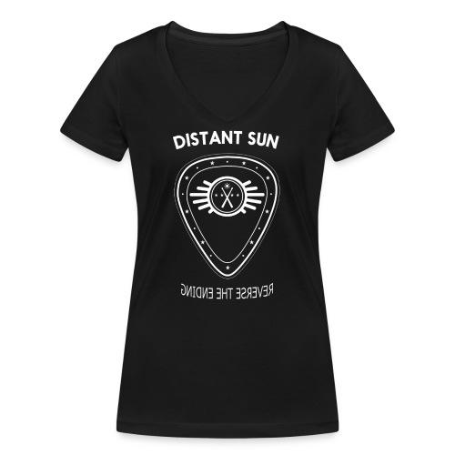 Distant Sun - Mens Standard T Shirt Black - Women's Organic V-Neck T-Shirt by Stanley & Stella