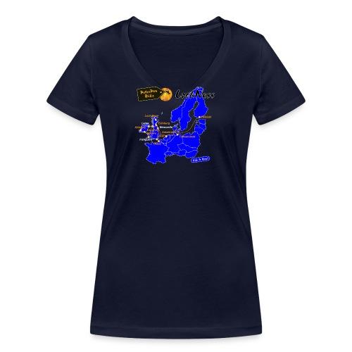 LochNess-01-01 - Stanley & Stellan naisten v-aukkoinen luomu-T-paita