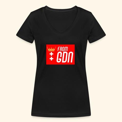 #fromGDN - Ekologiczna koszulka damska z dekoltem w serek Stanley & Stella