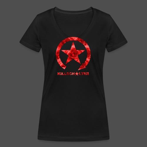 KILLSCHALTER Logo Roses - Ekologiczna koszulka damska z dekoltem w serek Stanley & Stella
