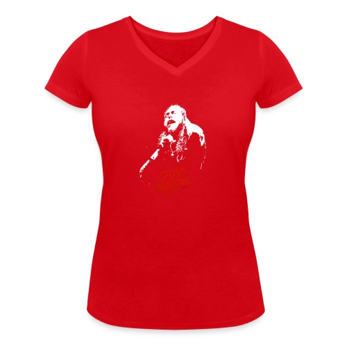 Malone Leave Me - Stanley & Stellan naisten v-aukkoinen luomu-T-paita