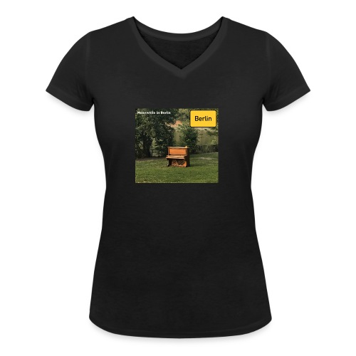 lonely Piano - Frauen Bio-T-Shirt mit V-Ausschnitt von Stanley & Stella