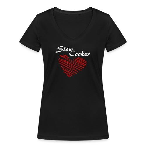 Slow Cooker - Frauen Bio-T-Shirt mit V-Ausschnitt von Stanley & Stella
