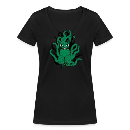 Tentakelkatzi - Frauen Bio-T-Shirt mit V-Ausschnitt von Stanley & Stella