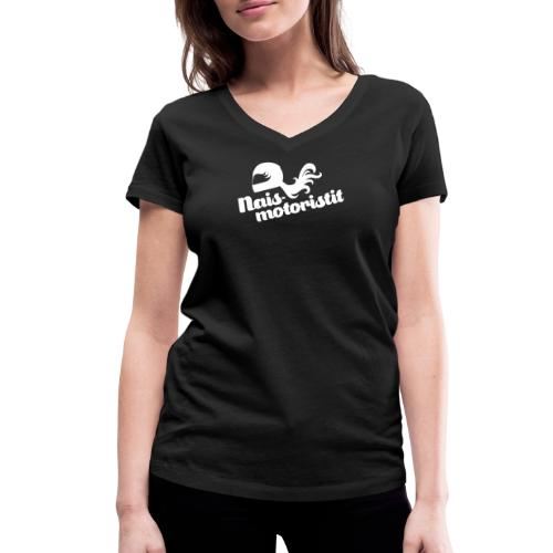 Facebook Naismotoristit - Stanley & Stellan naisten v-aukkoinen luomu-T-paita